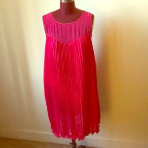 Pink and Orange Maeve dress from Anthropologie